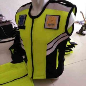 Produksi Rompi Polisi Security Bahan Double Mess